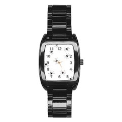 Animals Arachnophobia Seamless Stainless Steel Barrel Watch