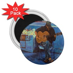 Man and His Guitar 2.25  Magnets (10 pack)