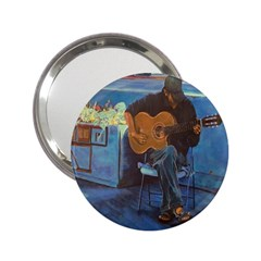 Man And His Guitar 2 25  Handbag Mirrors