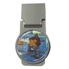 Man and His Guitar Money Clips (Round)