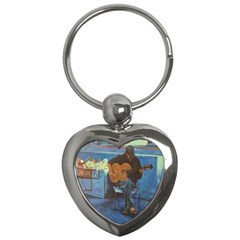 Man And His Guitar Key Chains (heart)