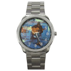 Man and His Guitar Sport Metal Watch