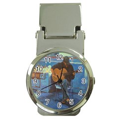 Man and His Guitar Money Clip Watches