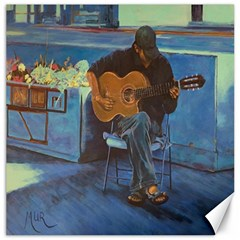 Man And His Guitar Canvas 16  X 16