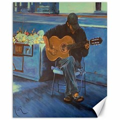 Man and His Guitar Canvas 16  x 20