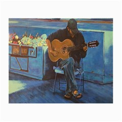 Man And His Guitar Small Glasses Cloth (2 Side)