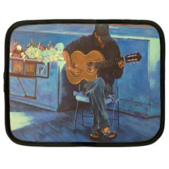 Man and His Guitar Netbook Case (Large)