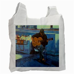 Man and His Guitar Recycle Bag (One Side)