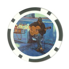 Man and His Guitar Poker Chip Card Guard (10 pack)