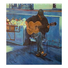 Man And His Guitar Shower Curtain 66  X 72  (large)