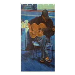 Man and His Guitar Shower Curtain 36  x 72  (Stall)