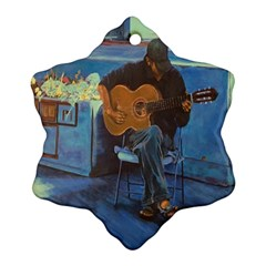 Man and His Guitar Snowflake Ornament (Two Sides)