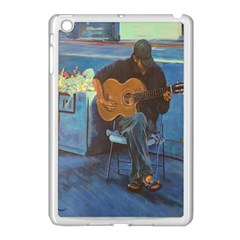 Man And His Guitar Apple Ipad Mini Case (white)