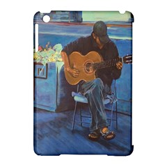Man And His Guitar Apple Ipad Mini Hardshell Case (compatible With Smart Cover)