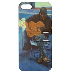 Man And His Guitar Apple Iphone 5 Hardshell Case With Stand