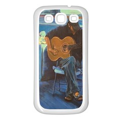 Man and His Guitar Samsung Galaxy S3 Back Case (White)