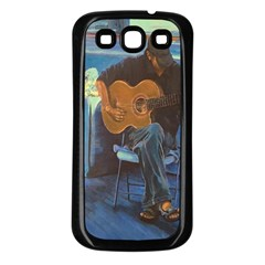 Man And His Guitar Samsung Galaxy S3 Back Case (black)