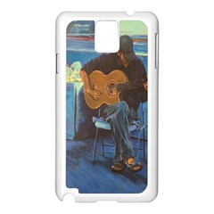 Man and His Guitar Samsung Galaxy Note 3 N9005 Case (White)