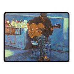 Man and His Guitar Double Sided Fleece Blanket (Small)