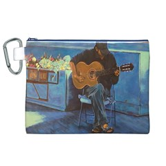 Man And His Guitar Canvas Cosmetic Bag (xl)