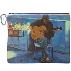 Man And His Guitar Canvas Cosmetic Bag (xxxl)