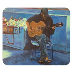 Man And His Guitar Double Sided Flano Blanket (small)