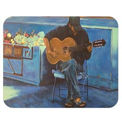 Man and His Guitar Double Sided Flano Blanket (Medium)