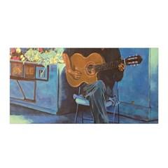 Man and His Guitar Satin Wrap