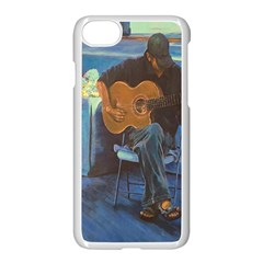 Man And His Guitar Apple Iphone 7 Seamless Case (white)