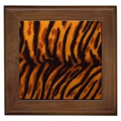 Animal Background Cat Cheetah Coat Framed Tiles