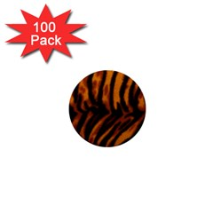 Animal Background Cat Cheetah Coat 1  Mini Buttons (100 pack)
