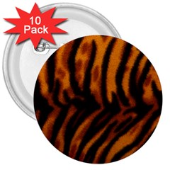 Animal Background Cat Cheetah Coat 3  Buttons (10 pack)
