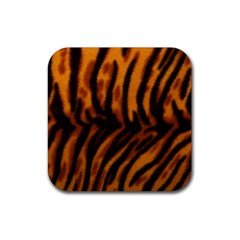 Animal Background Cat Cheetah Coat Rubber Square Coaster (4 pack)