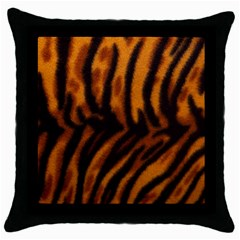 Animal Background Cat Cheetah Coat Throw Pillow Case (black)