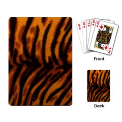 Animal Background Cat Cheetah Coat Playing Card