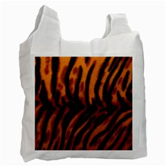 Animal Background Cat Cheetah Coat Recycle Bag (two Side)