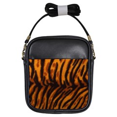 Animal Background Cat Cheetah Coat Girls Sling Bags