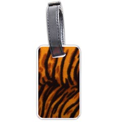 Animal Background Cat Cheetah Coat Luggage Tags (two Sides)