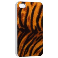 Animal Background Cat Cheetah Coat Apple Iphone 4/4s Seamless Case (white)