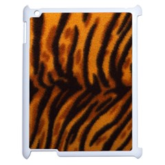 Animal Background Cat Cheetah Coat Apple Ipad 2 Case (white)