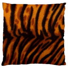 Animal Background Cat Cheetah Coat Large Cushion Case (two Sides)
