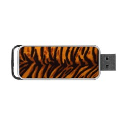 Animal Background Cat Cheetah Coat Portable Usb Flash (two Sides)