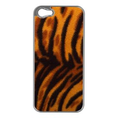 Animal Background Cat Cheetah Coat Apple Iphone 5 Case (silver)