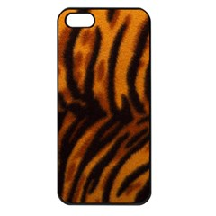 Animal Background Cat Cheetah Coat Apple Iphone 5 Seamless Case (black)