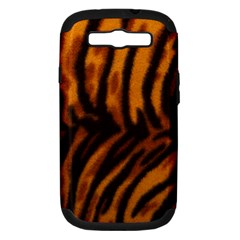 Animal Background Cat Cheetah Coat Samsung Galaxy S Iii Hardshell Case (pc+silicone)