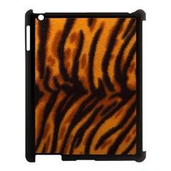 Animal Background Cat Cheetah Coat Apple Ipad 3/4 Case (black)