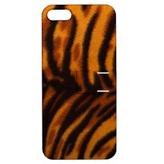 Animal Background Cat Cheetah Coat Apple Iphone 5 Hardshell Case With Stand