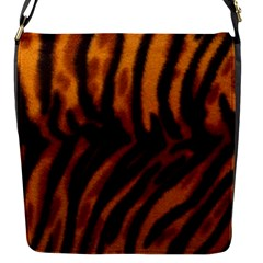 Animal Background Cat Cheetah Coat Flap Messenger Bag (s)