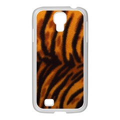 Animal Background Cat Cheetah Coat Samsung Galaxy S4 I9500/ I9505 Case (white)