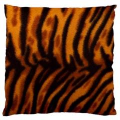 Animal Background Cat Cheetah Coat Large Flano Cushion Case (one Side)